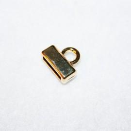 Terminal liso plano dorado para 10mm
