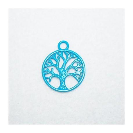 Colgante árbol azul