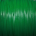 Cuero redondo 2mm nacional verde oscuro