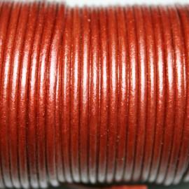 Cuero redondo 2mm metalizado cobre