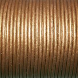 Cuero redondo 2mm metalizado