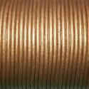 Cuero redondo 2mm metalizado bronce