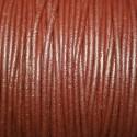Cuero redondo 2,5mm nacional marrón