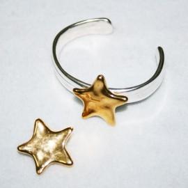 Estrella c/aplique en dorado