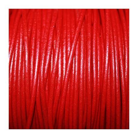 Cuero redondo 2,5mm nacional rojo