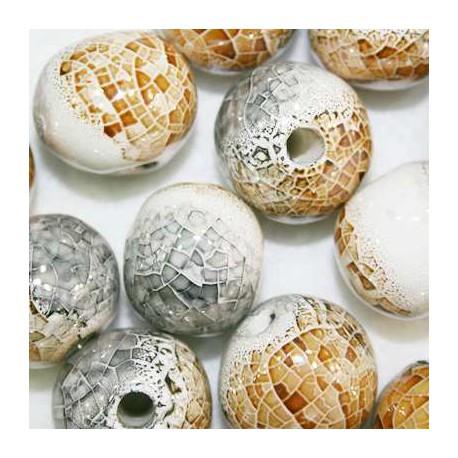 Ceramica Gris Marron y Crema