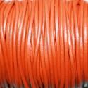 Cuero redondo 2,5mm naranja oscuro