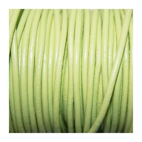 Cuero redondo 2,5mm verde pastel