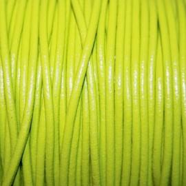 Cuero redondo 2,5mm nacional verde manzana