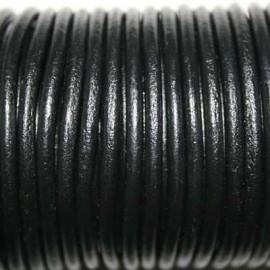 Cuero redondo 3mm nacional negro