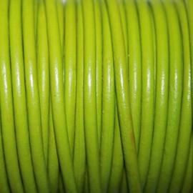 Cuero redondo 3mm nacional verde manzana