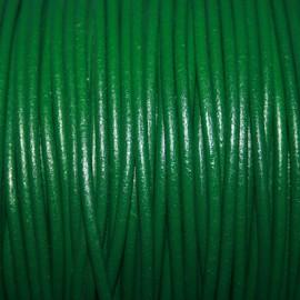 Cuero redondo 3mm nacional verde