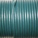 Cuero redondo 3mm azul verdoso
