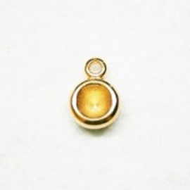 Colgante p/cristal dor. 8.16mm