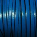 Cuero plano natural azul 5mm