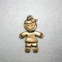 Niño con pantalón bronce
