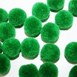 Pompón redondo verde