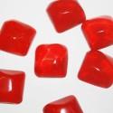Resina cuadrada grande roja