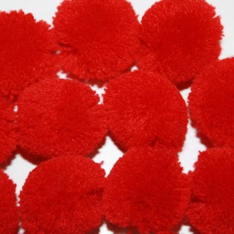 Pompon rojo grande