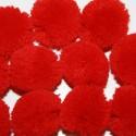 Pompón redondo rojo grande