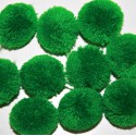 Pompón redondo verde grande