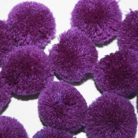 Pompon violeta grande