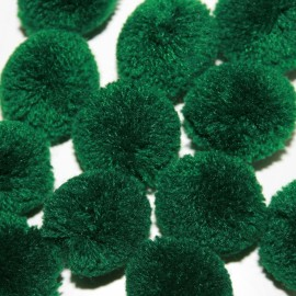 Pompon verde oscuro grande