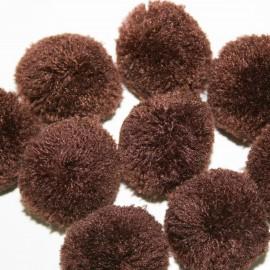 Pompon marrón grande