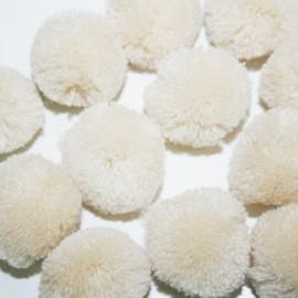 Pompon beige grande