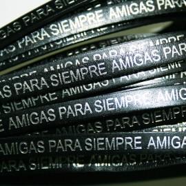 """Cuero """"Amigas para siempre"""" x 20cm"""