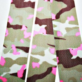 Lycra plana 30mm camuflaje rosa