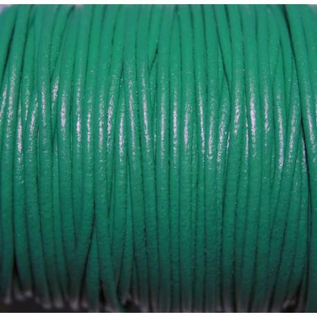 Cuero redondo 2mm nacional verde