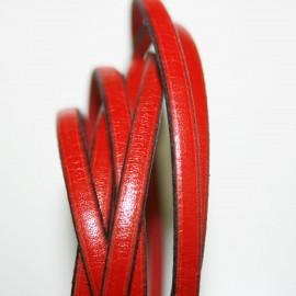 Cuero plano rojo 5mm