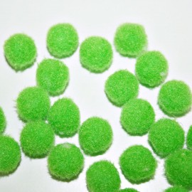 Pompón verde cl. redondo mini