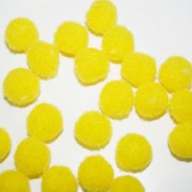 Pompón amarillo redondo mini