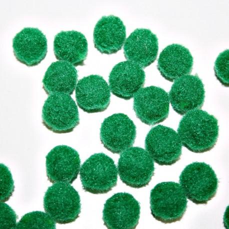 Pompón verde osc. redondo mini