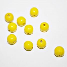 Bola madera amarilla 10mm