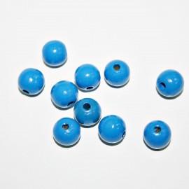 Bola madera azul oscuro 10mm