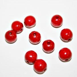 Bola madera roja 10mm