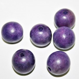 Bola madera 20mm violeta