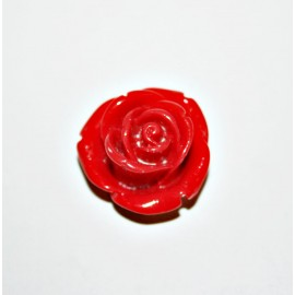 Rosa de resina mediana roja