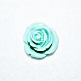 Rosa de resina mediana turquesa verdoso