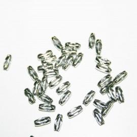 Cierre cadena de bolitas en acero inoxidable
