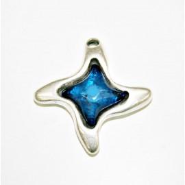 Colgante estrella con resina azul