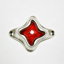 Conector estrella con resina roja