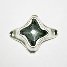 Conector estrella con resina gris