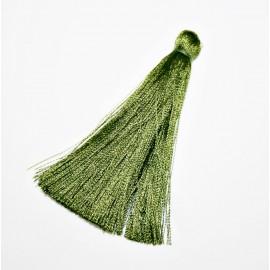 Borla o pompón largo verde oliva