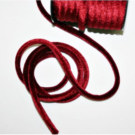 Cordón de terciopelo 5mm burdeos