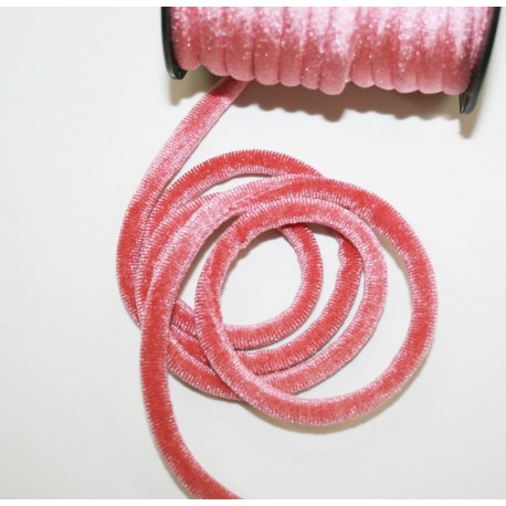 Cordón de terciopelo 5mm rosa