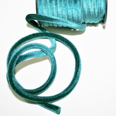 Cordón de terciopelo 5mm turquesa verdoso